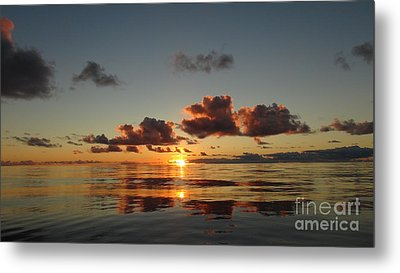Metal Print featuring the photograph Sunset At Sea by Laura  Wong-Rose