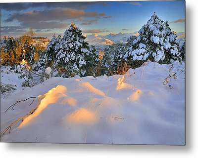 Sunset At Sierra Nevada Metal Print by Guido Montanes Castillo