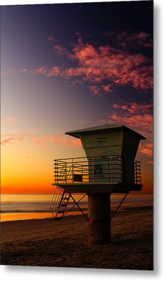 Sunset At South Carlsbad State Park Metal Print by Eric Foltz