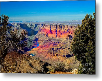 Sunset At South Rim Metal Print by Robert Bales