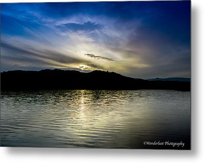 Sunset At South Tellico Lake Metal Print by Paul Herrmann