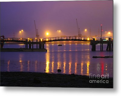 Sunset At Southampton Docks Metal Print by Terri Waters