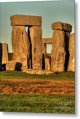 Sunset At Stonehenge 2 Metal Print by Deborah Smolinske