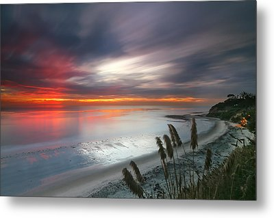 Sunset At Swamis Beach 4 Metal Print by Larry Marshall