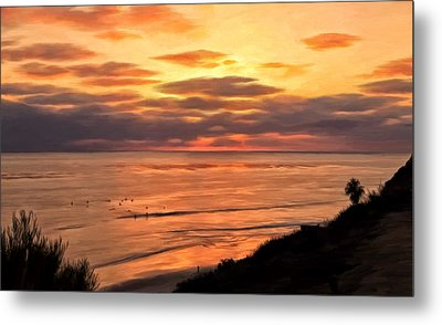 Sunset At Swami's Encinitas Metal Print by Michael Pickett
