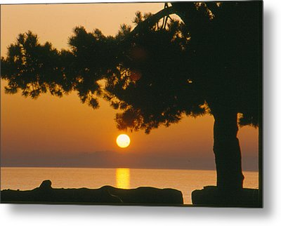 Metal Print featuring the photograph Sunset At The Beach by Michael Dohnalek