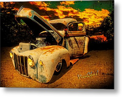 Sunset At The Blanco River Metal Print by Chas Sinklier