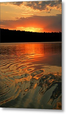 Metal Print featuring the photograph Sunset At The Lake by Barbara West