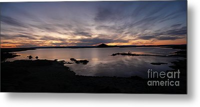 Sunset Over Lake Myvatn In Iceland Metal Print