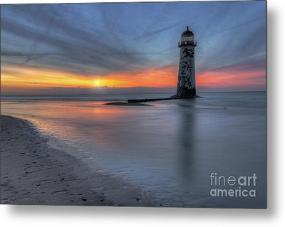 Sunset At The Lighthouse V3 Metal Print by Ian Mitchell