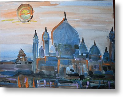 Sunset At The Taj Metal Print by Vikram Singh