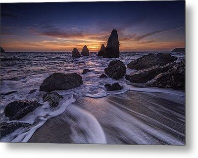 Sunset At Water's Edge Metal Print by Rick Berk