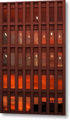 Sunset At Work Metal Print by Celso Bressan