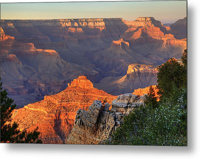 Metal Print featuring the photograph Sunset At Yaki Point by Alan Vance Ley