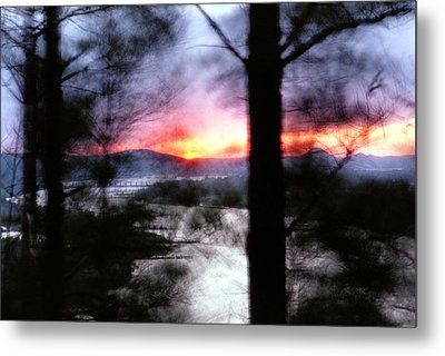 Sunset Atop Windy Emerald Park Metal Print by Jason Politte