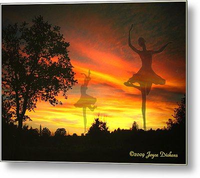Sunset Ballerina Metal Print by Joyce Dickens