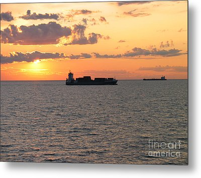 Metal Print featuring the photograph Sunset Baltic Sea by Art Photography