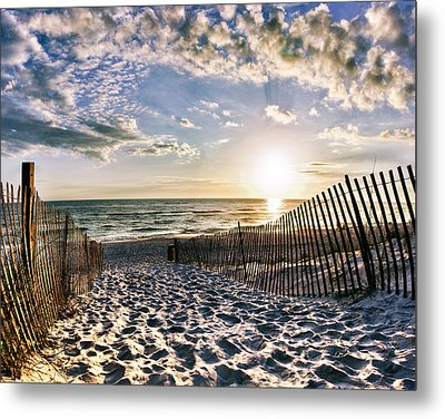 Sunset Beach 30a Rosemary Florida White Sand Pathway Art Metal Print