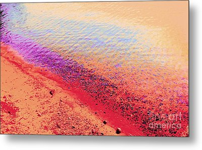Sunset Beach Metal Print by Ann Johndro-Collins