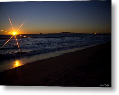 Sunset Beach Metal Print by Heidi Smith
