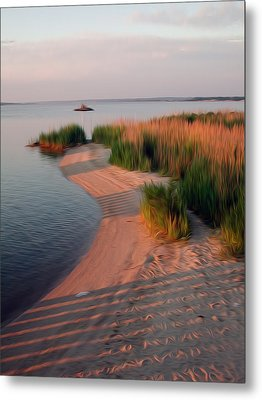 Metal Print featuring the digital art Sunset Beach by Kelvin Booker
