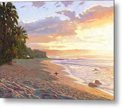 Sunset Beach - Oahu Metal Print by Steve Simon