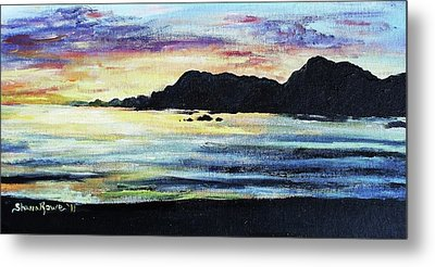 Metal Print featuring the painting Sunset Beach by Shana Rowe Jackson