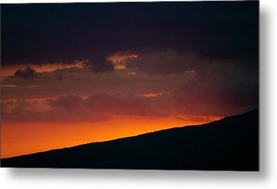 Sunset Beyond The Waianae Mountain Range Metal Print