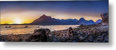 Sunset Black Cuillin Isle Of Skye Scotland Metal Print