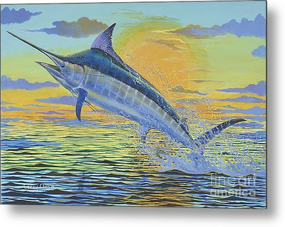 Sunset Blue Off0085 Metal Print by Carey Chen