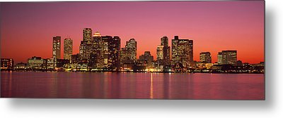 Sunset Boston Ma Metal Print by Panoramic Images