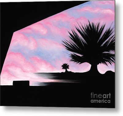 Metal Print featuring the painting Sunset Boulevard Dreams by Tiffany Davis-Rustam