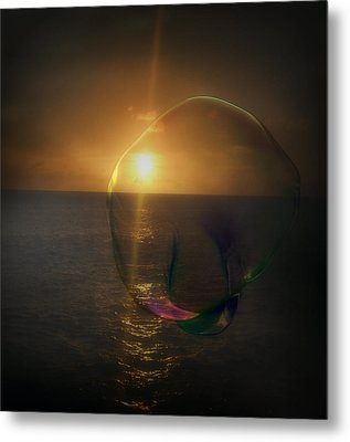 Sunset Bubble Metal Print