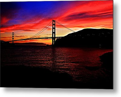 Metal Print featuring the photograph Sunset By The Bay by Dave Files