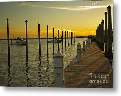 Metal Print featuring the photograph Sunset By The Marina One by Jose Oquendo