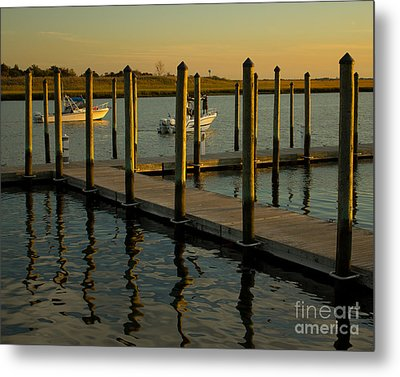 Metal Print featuring the photograph Sunset By The Marina Two by Jose Oquendo