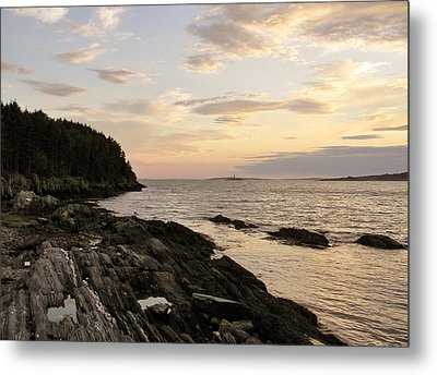Metal Print featuring the photograph Sunset By The Sea by Jean Goodwin Brooks
