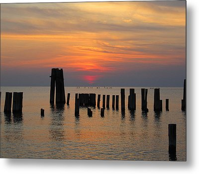 Sunset Cape Charles Metal Print by Richard Reeve