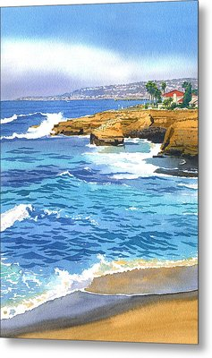 Sunset Cliffs Point Loma Metal Print by Mary Helmreich