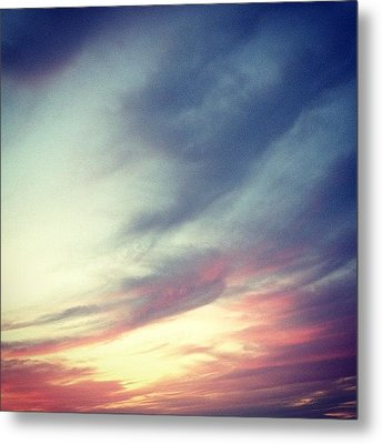 Sunset Clouds Metal Print by Christy Beckwith