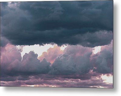 Sunset Clouds Metal Print by Kathy Bassett