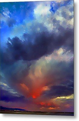 Sunset Clouds Over Albuquerque Metal Print by Wernher Krutein