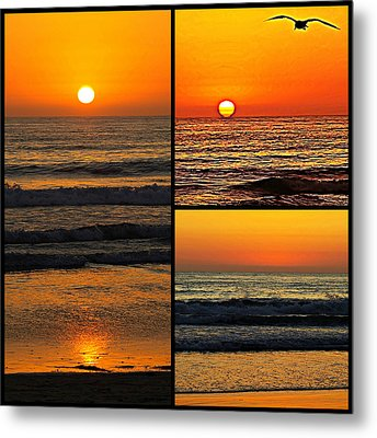 Sunset Collage Metal Print by Sharon Soberon