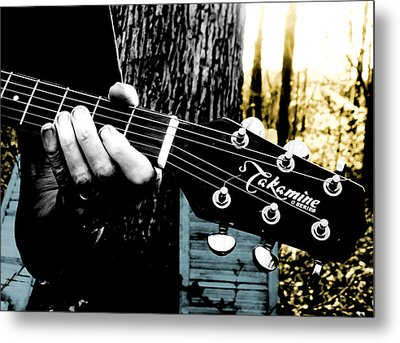 Sunset Country Pickin Metal Print by Kristie  Bonnewell