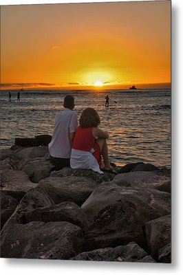 Metal Print featuring the photograph Sunset Moment by John Swartz