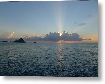 Sunset Cruise - St. Lucia 2 Metal Print by Nora Boghossian