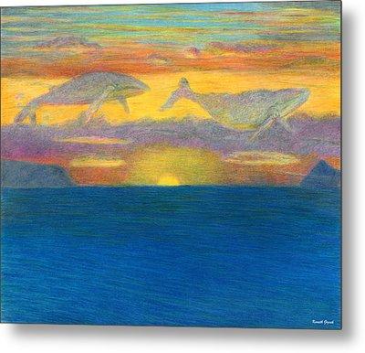 Sunset Drifters Metal Print by Kenneth Grzesik