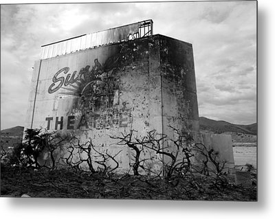 Sunset Drive-in Metal Print