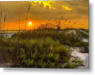 Sunset Dunes Metal Print