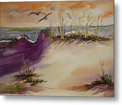 Metal Print featuring the painting Sunset Dunes by Roxanne Tobaison